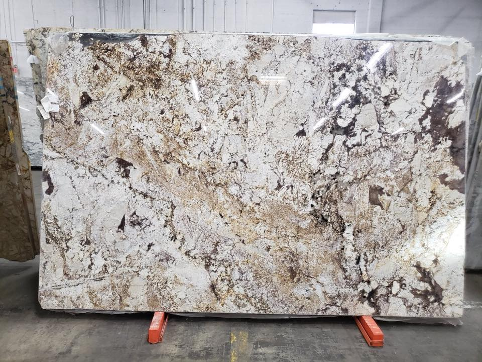 Desert Beach Granite Slabs Polished White Granite Slabs for Countertops