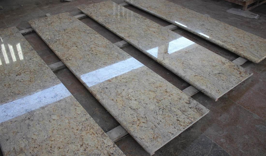 Diamond Gold Granite Countertop for Kitchen