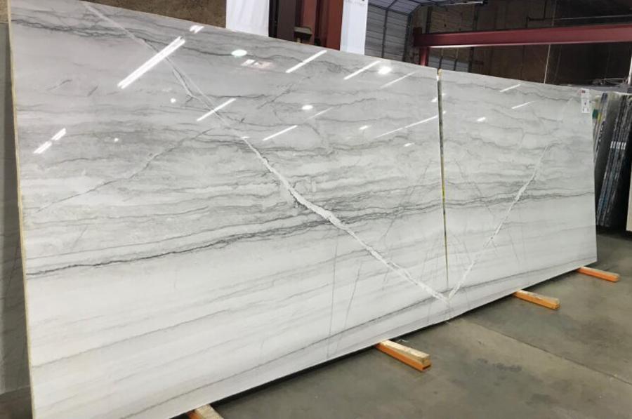 Diamond White Quartzite Slabs Polished Quartzite Slabs for Countertops