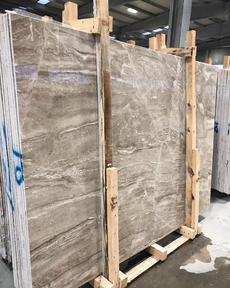 Diana Royal Slabs Polished Beige Marble Slabs from Turkey