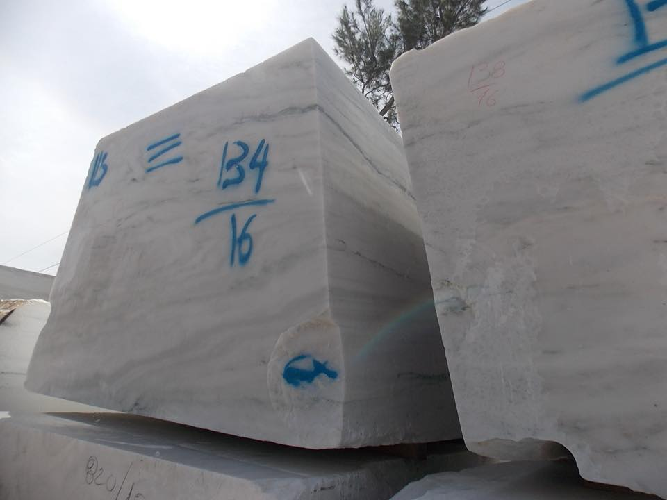 Dionysso Pentelicon Marble Blocks White Natural Marble Blocks