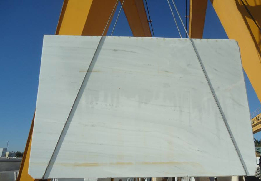 Dionyssos White Polished Marble Slabs from Greece