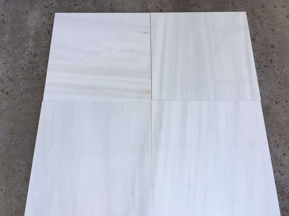 Dionysus Tiles Polished White Marble Tiles from Greece
