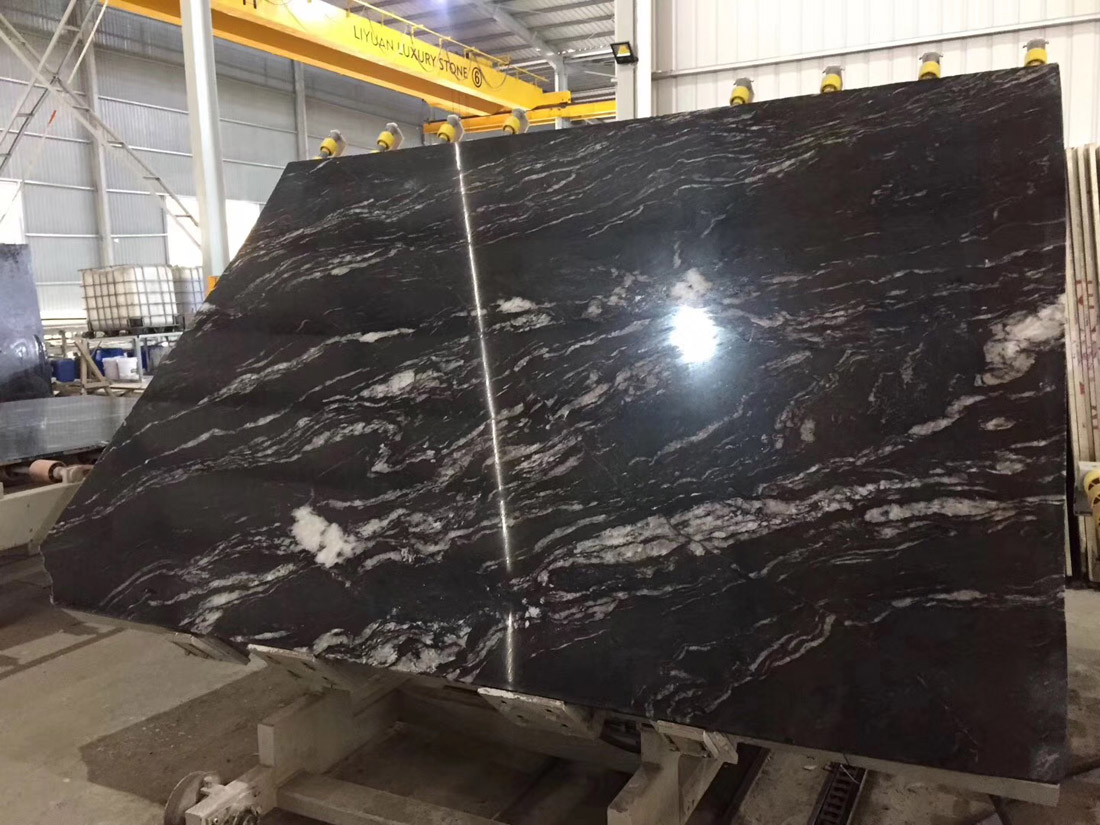 Dolce Nero Black Granite Slabs