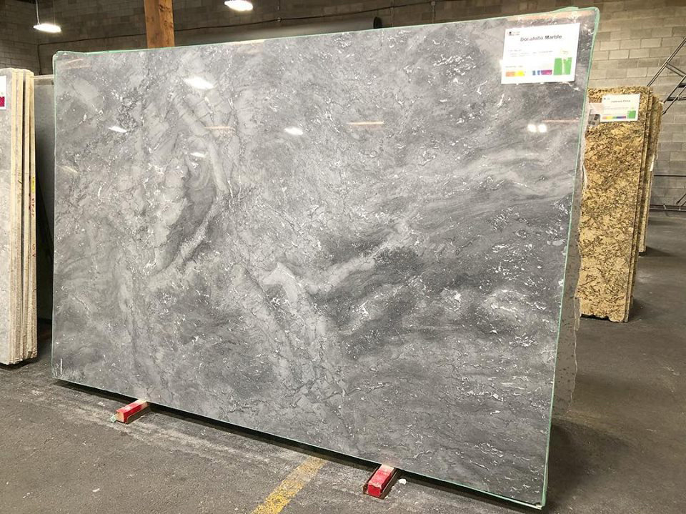Donatello Marble Grey Polished Marble Slabs from Brazil