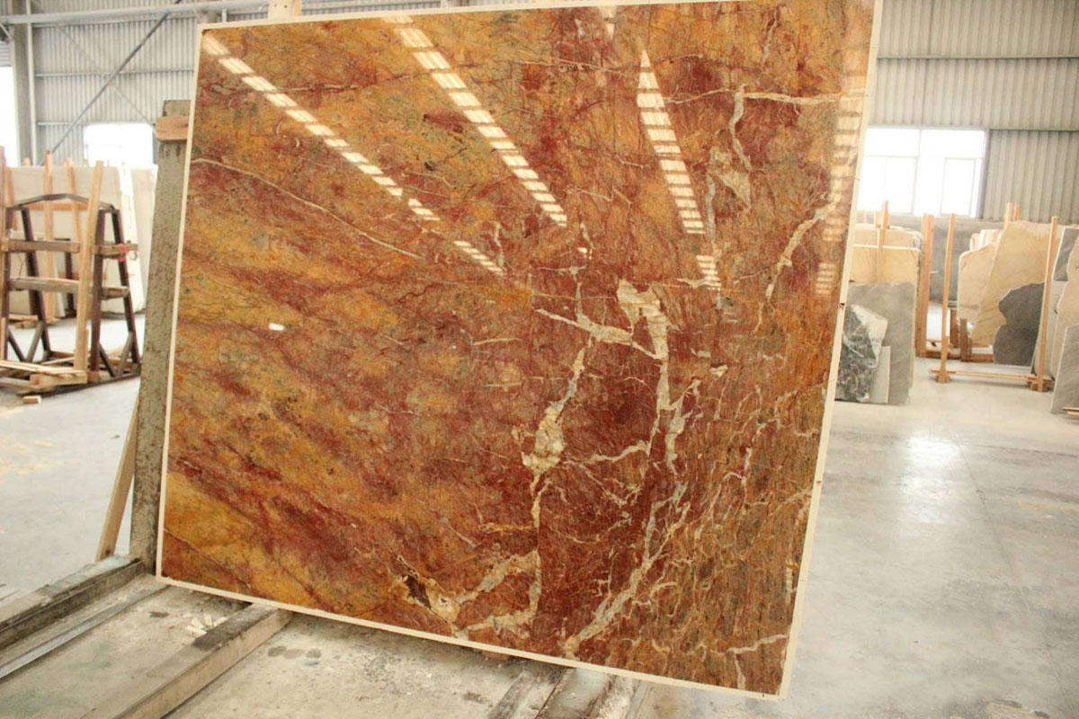Dragon Red Marble Slabs from China Supplier