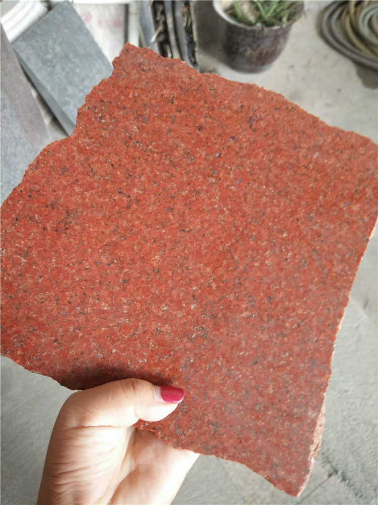 Dyed Red Granite Paving Stone