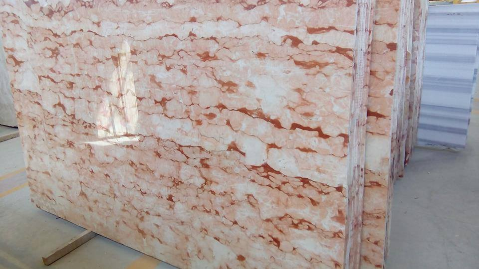 Eglantine Veincut Marble Slabs Turkish Pink Marble Slabs