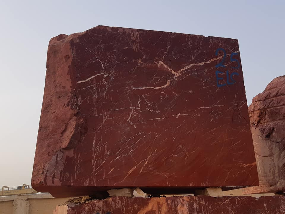 Egyptian Red Jasper Marble Blocks