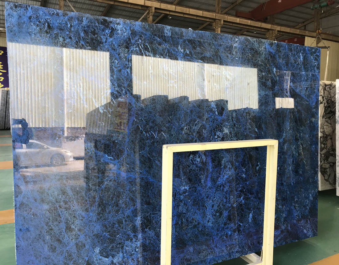 Electrolysis New Azul Bahia Blue Bahia Sodalite Blue Granite Slabs