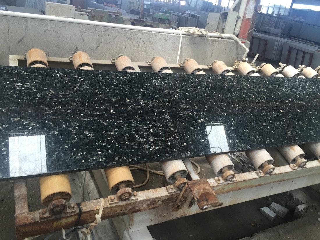 Emerald Pearl Granite Polished Blue Slabs
