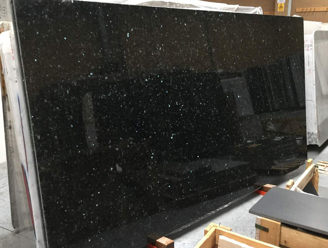 Emerald Pearl Granite Slabs Polished Blue Granite Stone Slabs