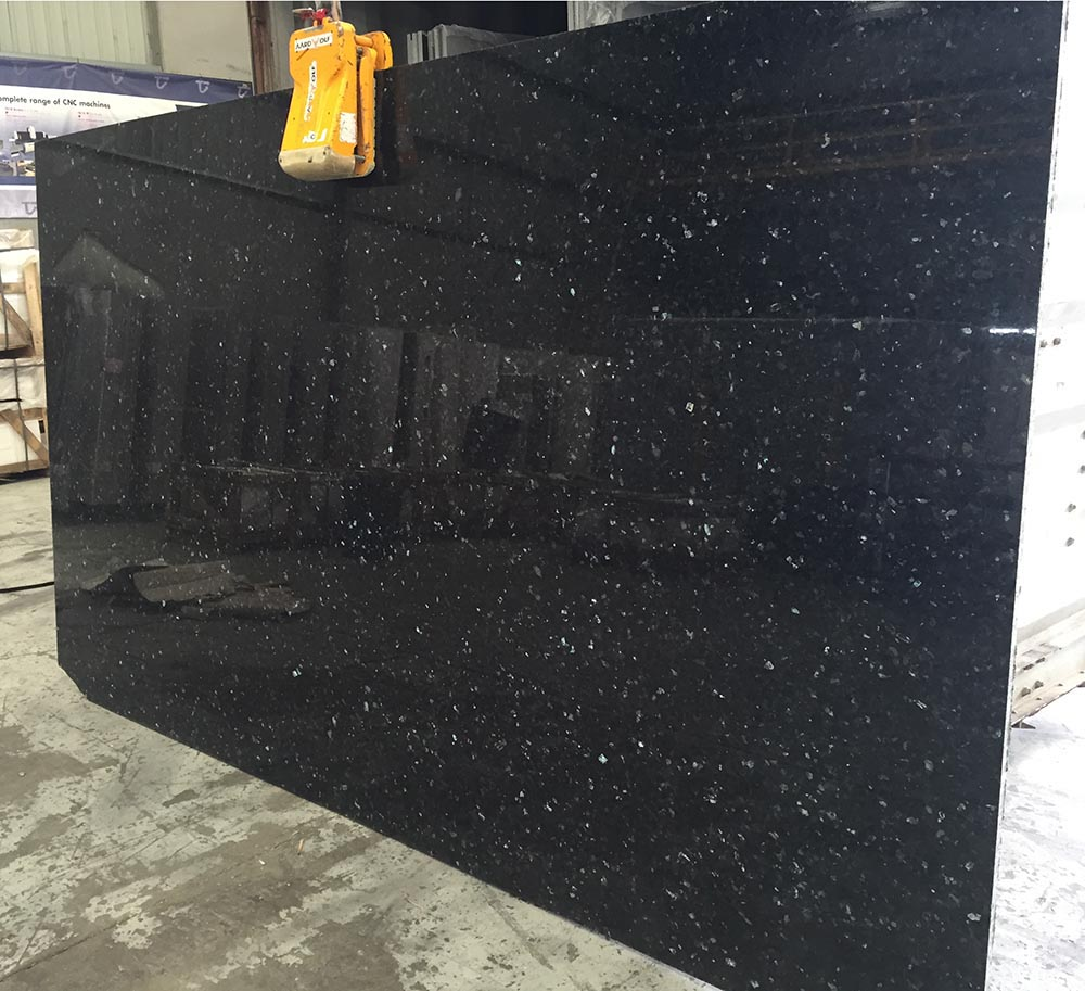 Emerald Pearl Slab Polished Green Granite Stone Slabs for Countertops
