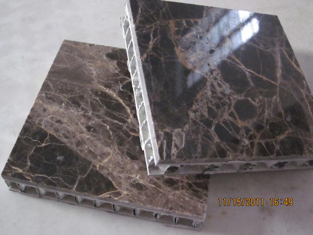 Emperador Marble and Aluminium Honeycomb