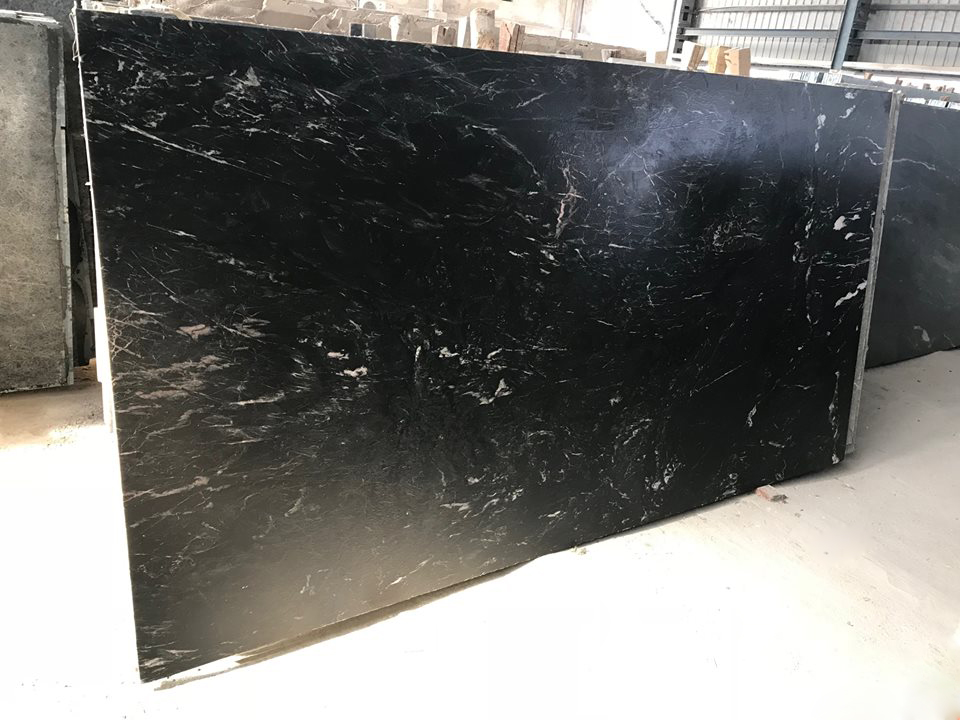 Emrald Black Marble Antique Finished Marble Slabs