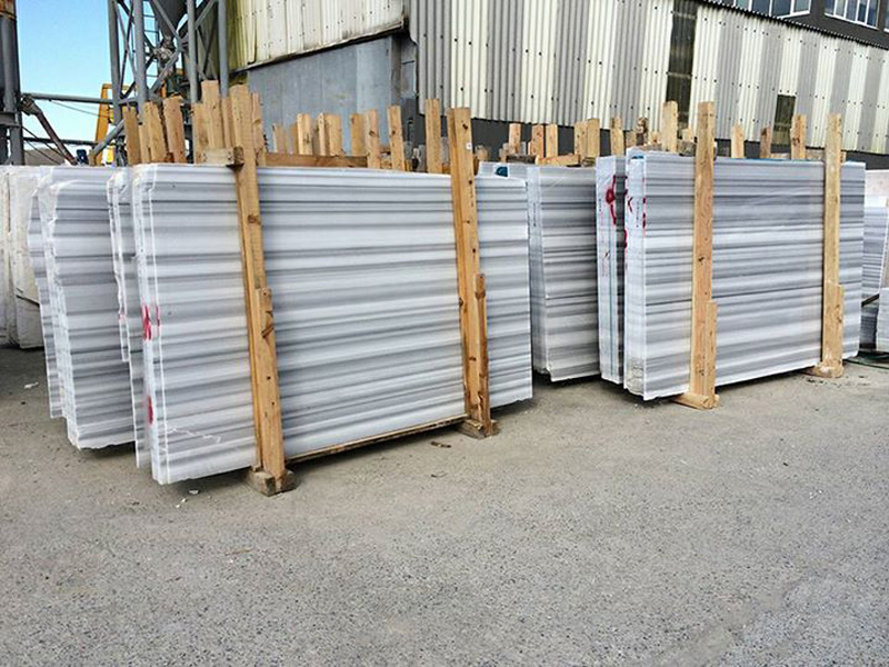 Equator Marble Slabs Polished White Marble Slabs