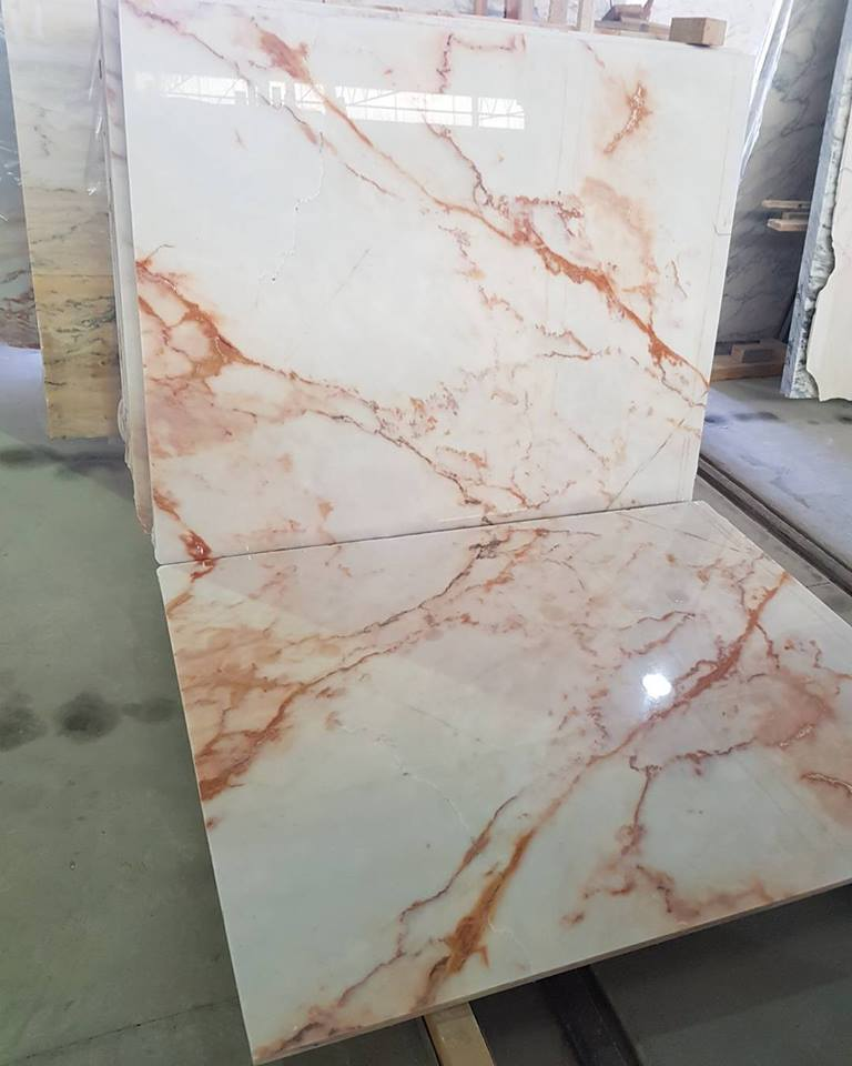 Estremoz Marble Bookmatch Tiles High Quality Marble Tiles from Portugal