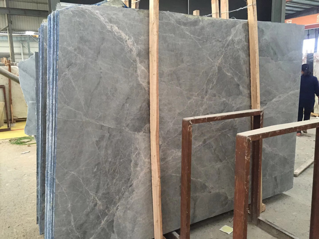 Etruscan Grey Thundra Grey Marble Slabs