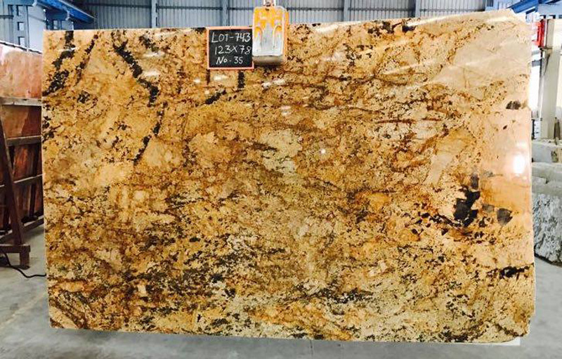 Exotic Gold Granite Slabs Yellow Granite Slabs Polished