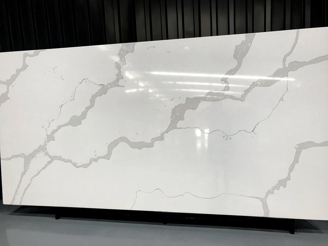 Fake Marble Calacatta Nuvo White Quartz Stone Slabs