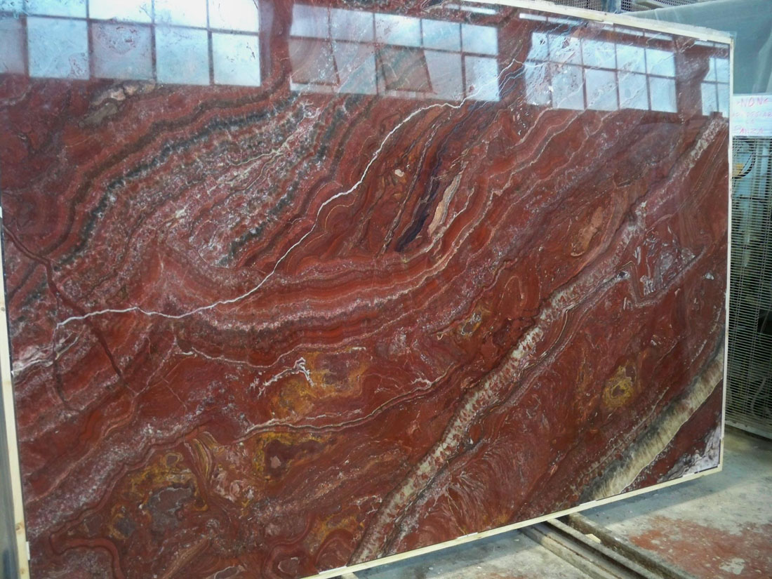 Fantastich Vulcano Polished Red Onyx Slabs
