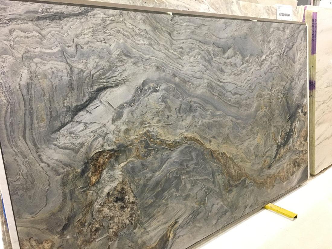 Fantasy Black Leathered Quartzite Slabs for Countertops