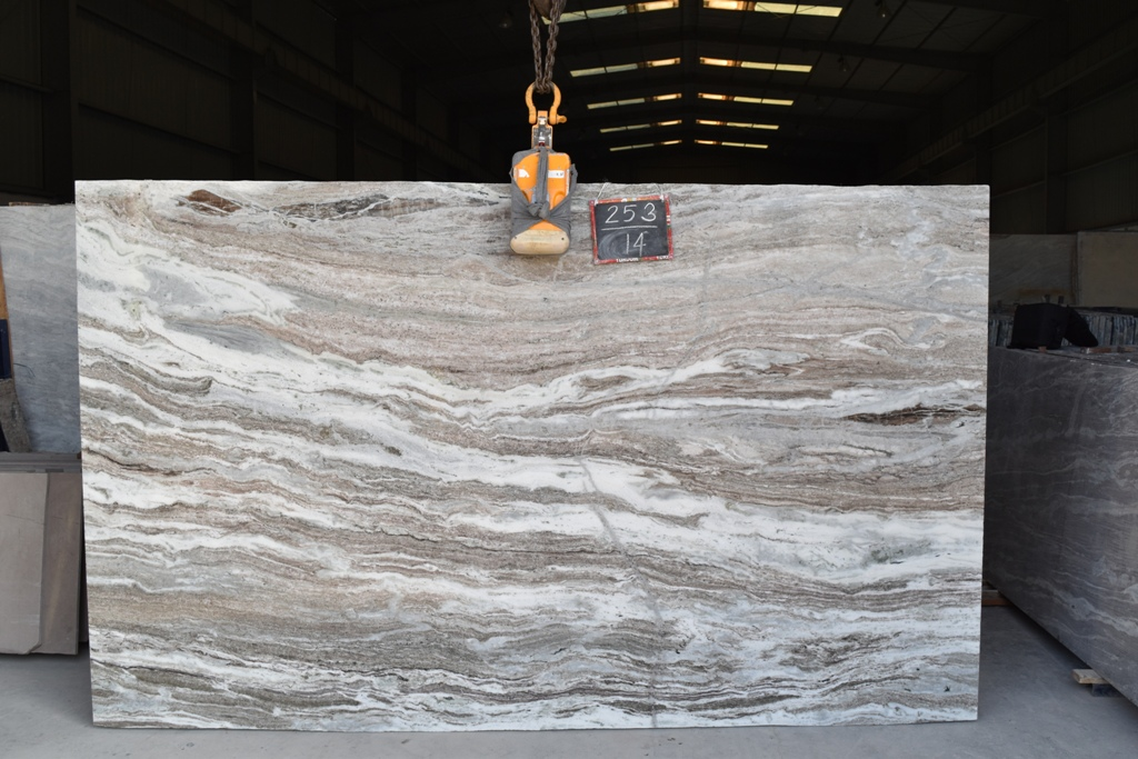 Fantasy Brown Marble Slabs Indian Polished Marble Slabs for Decoration