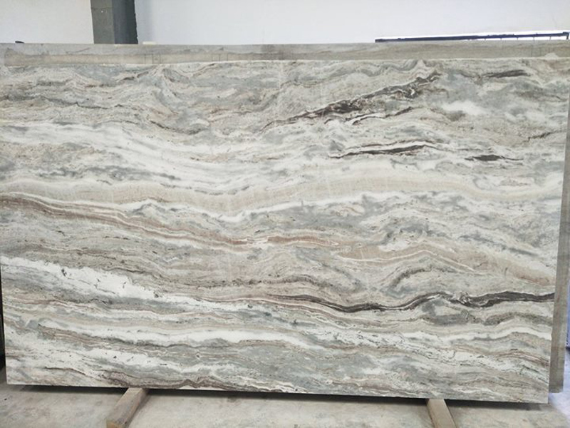 Fantasy Brown Marble Slabs for Kitchen Countertops