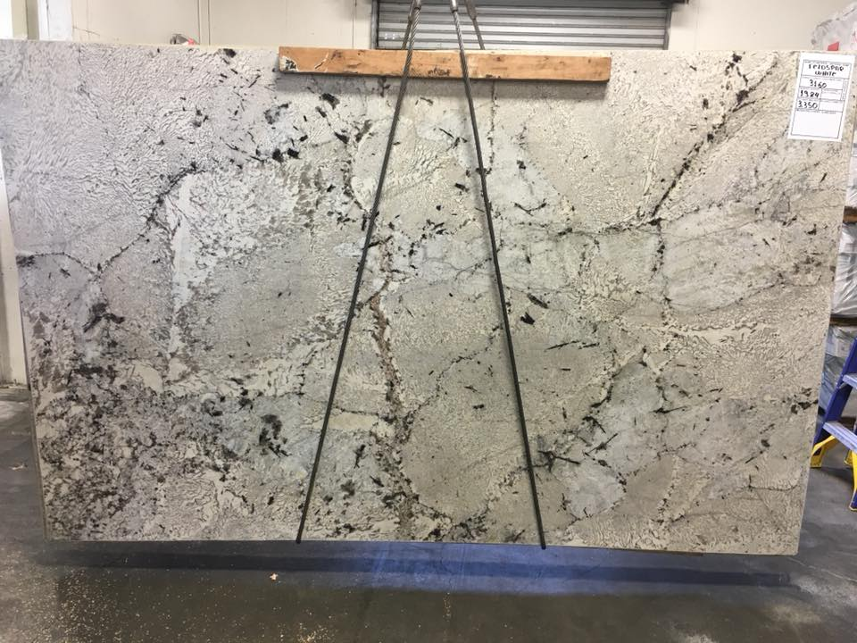 Feldspato Granite White Polished Granite Slabs