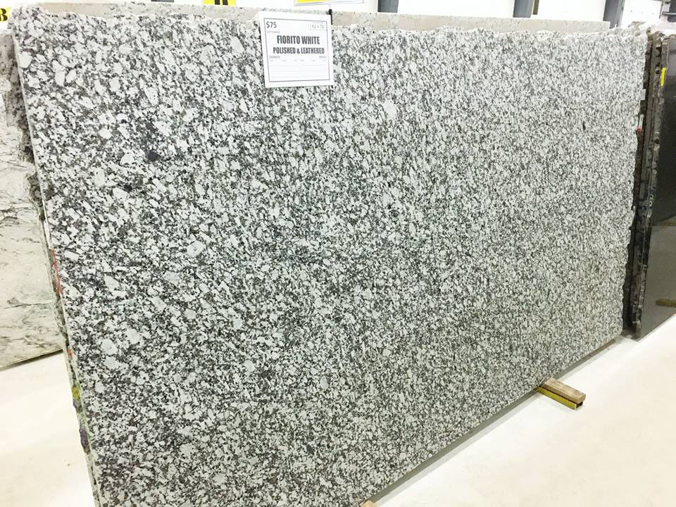Fiorito White Granite Polished White Granite Slabs