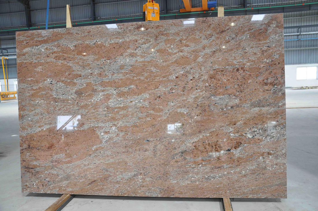 First Quality Rosewood Polished Granite Slabs
