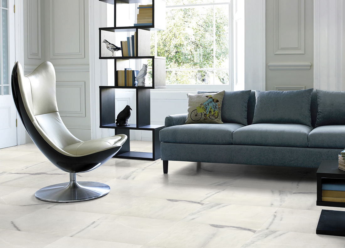Flavious White Marble Tiles Polished White Flooring Stone Tiles