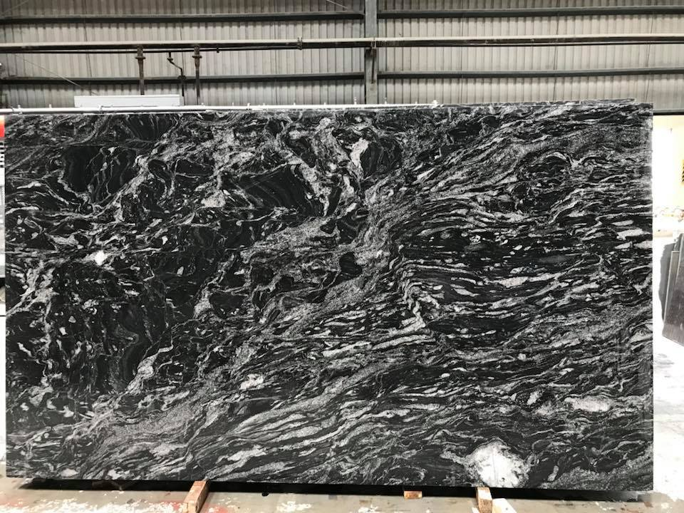 Forest Black Granite Slabs