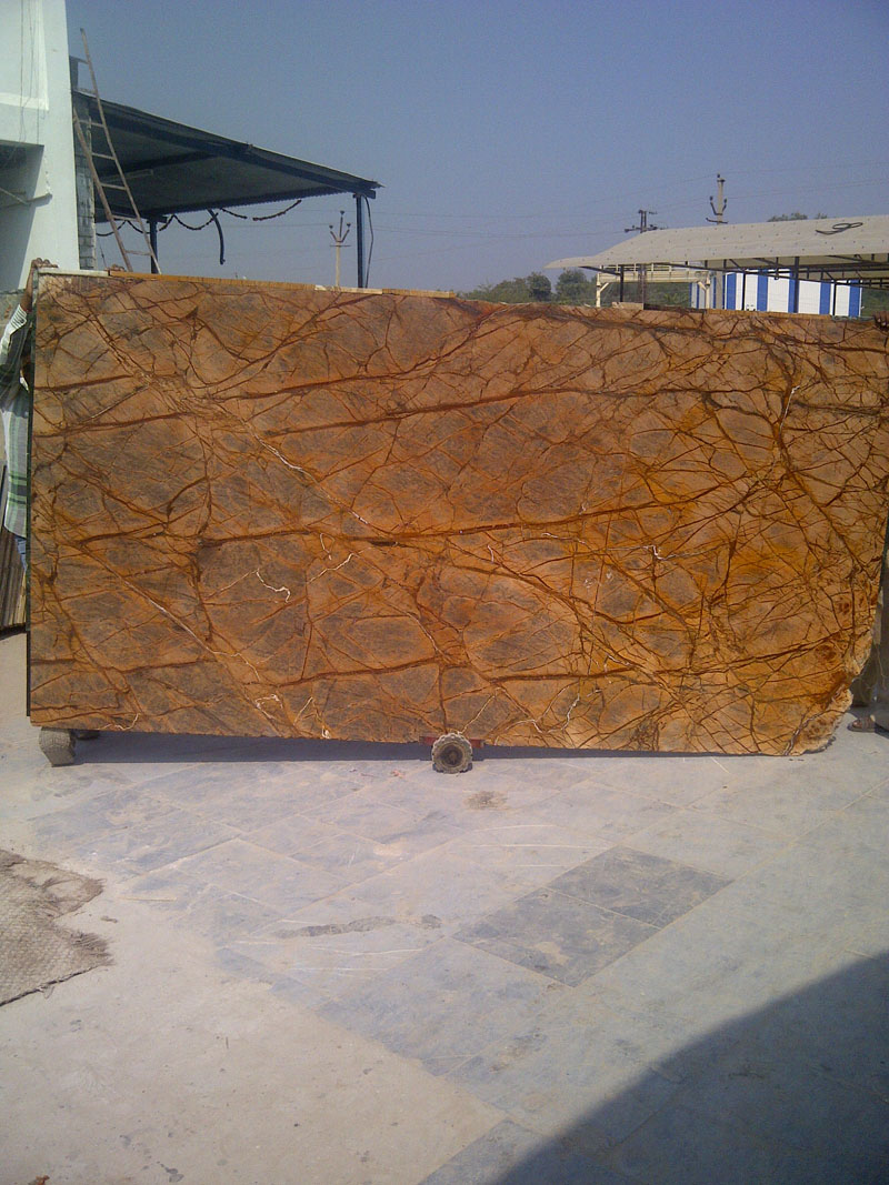Forest Brown Polished Marble 2cm Slabs