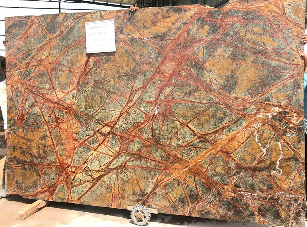 Forest Brown Slabs Indian Brown Marble Stone Slabs