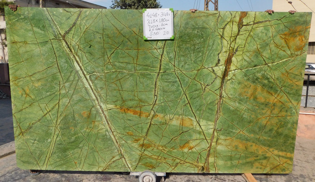 Forest Green Marble Slabs Indian Green Polished Marble Stone Slabs