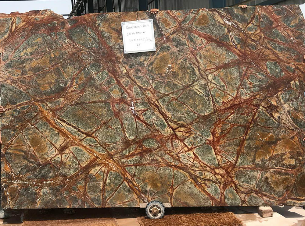 Forest Marble Slabs Indian Brown Marble Stone Slabs