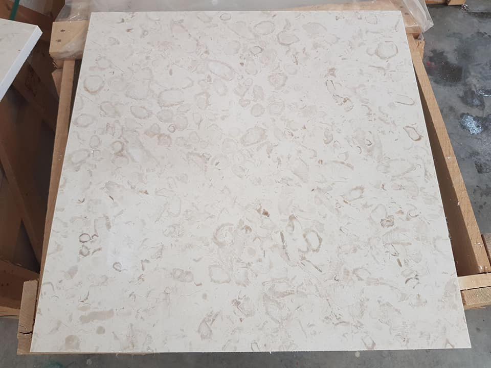 Fossil Beige Marble Tiles for Walling and Flooring