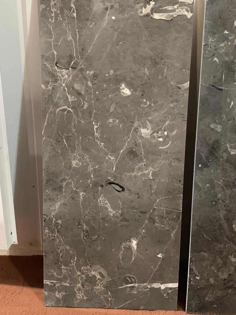 Fossiliferous Gray Marble Tiles Iranian Grey Marble Flooring Tiles