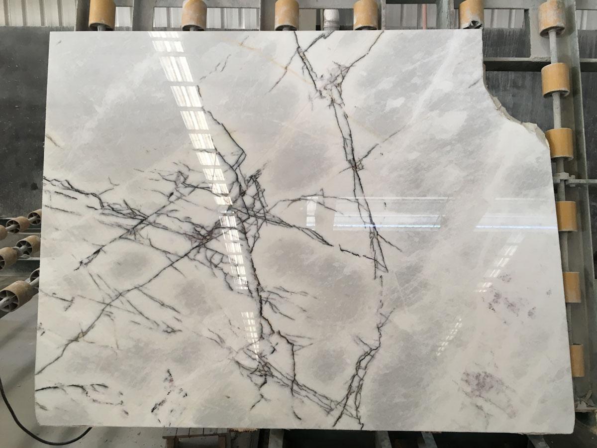 Fragrant Snow Plum Blossom Marble White Slabs