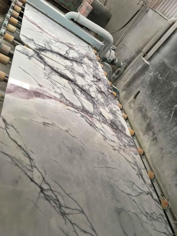 Fragrant Snow Plum Blossom White with Grey Marble for Bathroom Countertops