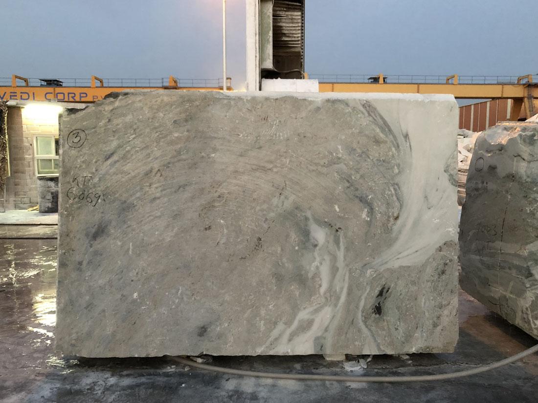 Frozen White Blocks Marble Blocks from India