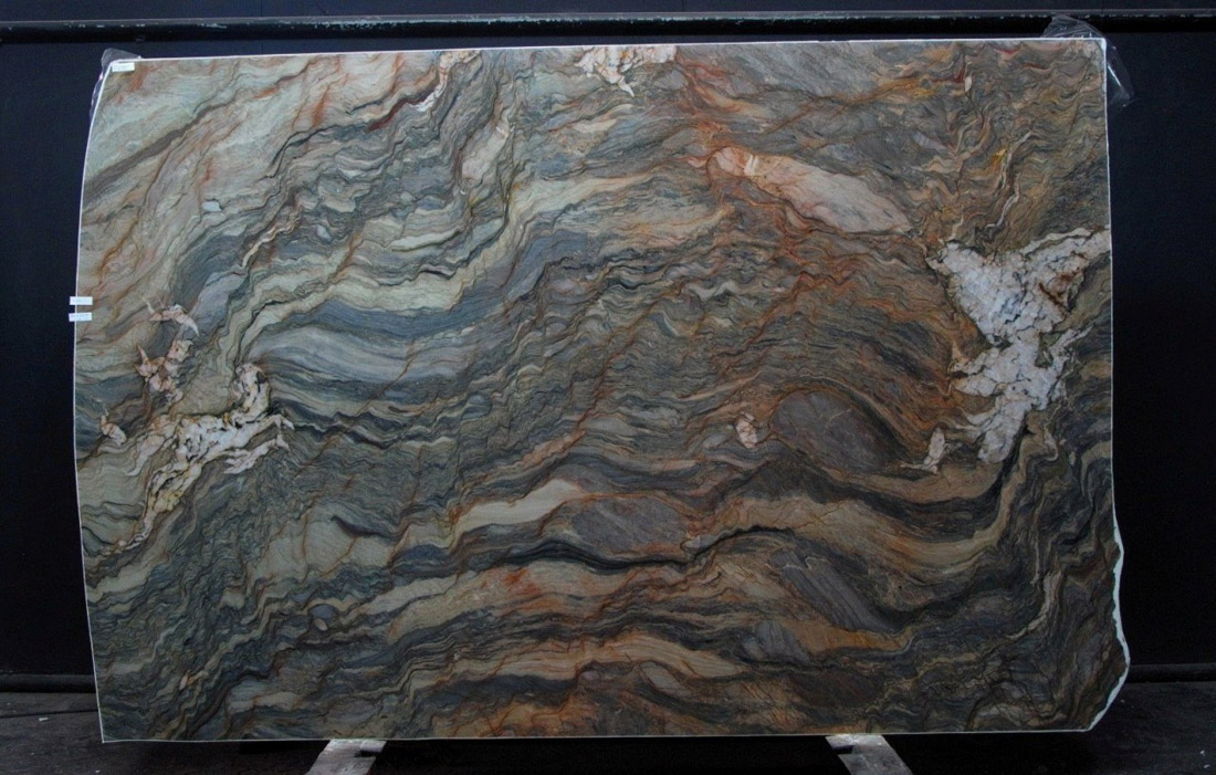 Fusion 3CM Quartzite Stone Slabs Brazil Multicolor Quartzite Stone Slabs