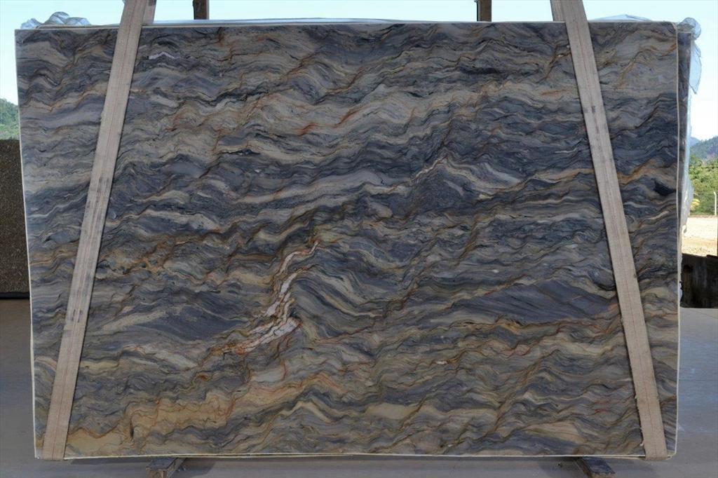 Fusion Blue Quartzite Stone Slabs Brazil Blue Quartzite Natural Stone Slabs