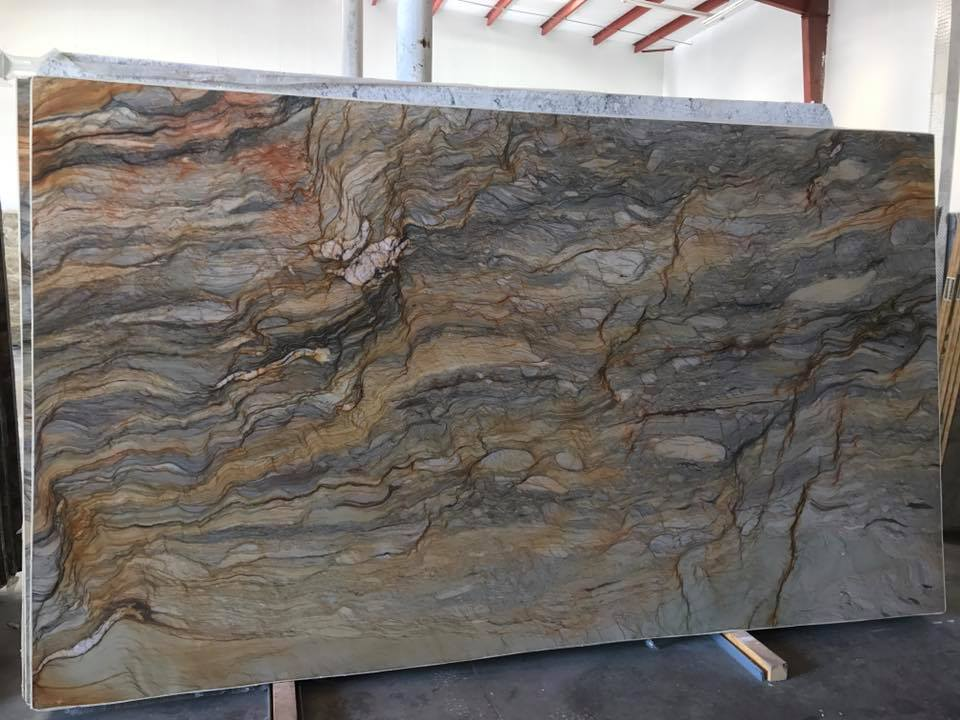 Fusion Premium Quartzite Brown Quartzite Slabs for Countertops