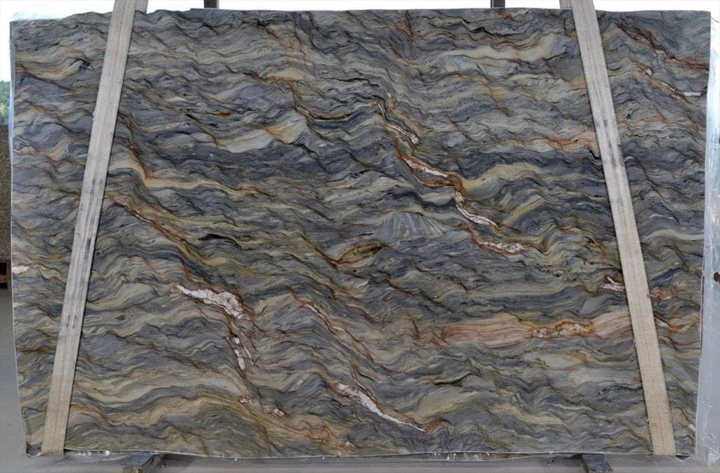 Fusion Quartzite Slab Blue Quartzite Stone Slabs for Countertops
