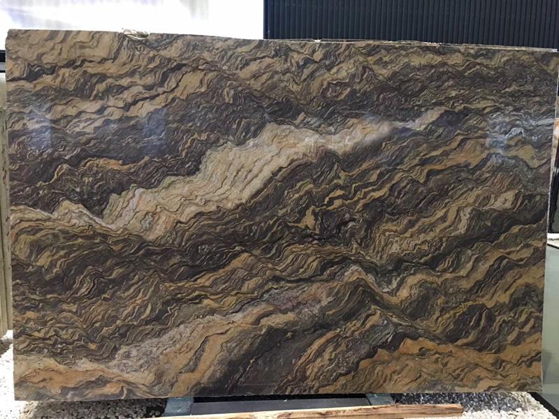 Fusion Quartzite Slabs Polished Brazil Quartzite Stone Slabs for Countertopd