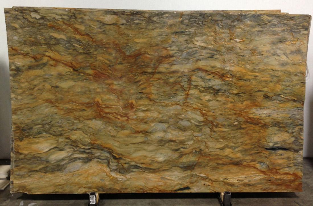 Fusion Quartzite Slabs Yellow Quartzite Polished Stone Slabs