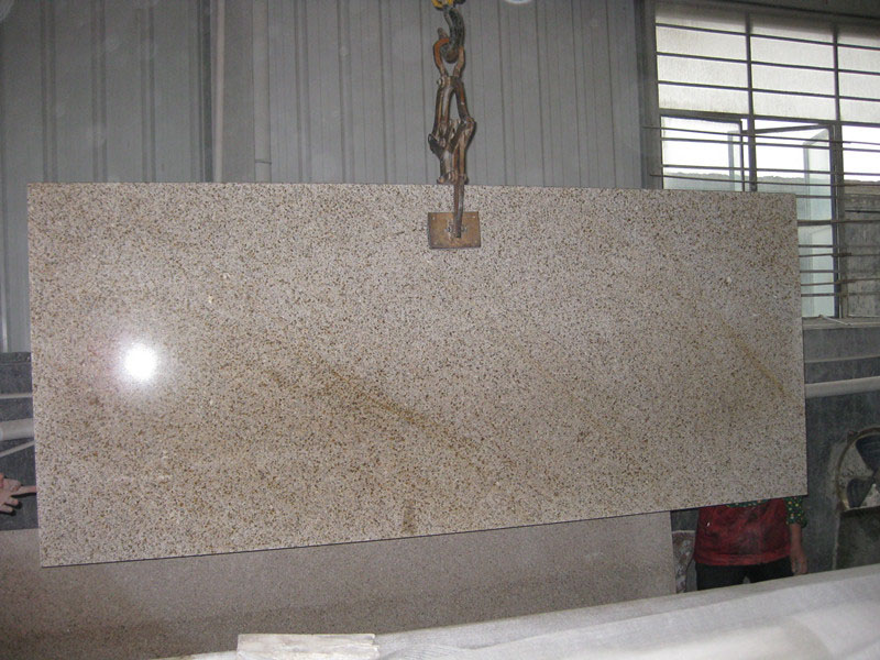 G350 Granite Yellow Polished Slabs
