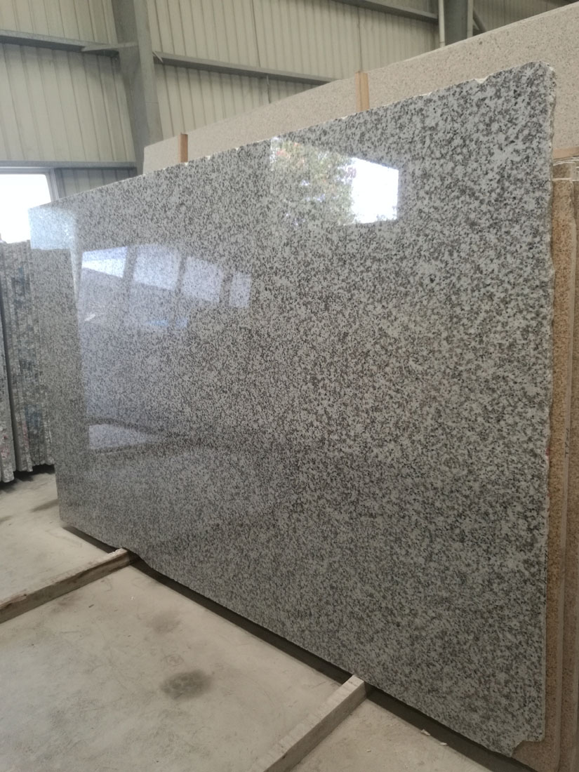 G439 Big White Flower Grey Beta White Gray Granite Slabs